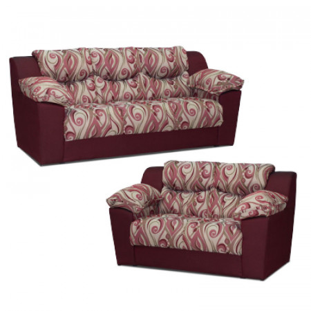NOBILE SOFA CANCUN ROJO FLORAL 3+2